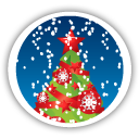 Merry Christmas Tree - icon gratuit #194647