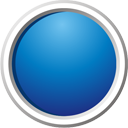 Blue Button - icon gratuit #195197