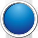 botón azul - icon #195197 gratis