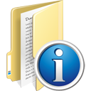 Folder Info - icon gratuit #195347