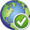 Globe Accept - icon gratuit #195367