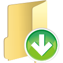 Folder Down - Kostenloses icon #196107