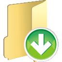 Папка вниз - бесплатный icon #196107