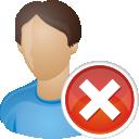 Удалить пользователя - бесплатный icon #196207