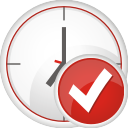 Clock Accept - icon gratuit #197017