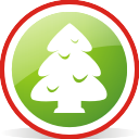 Christmas Tree Rounded - icon gratuit(e) #197057