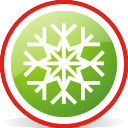 Flocon de neige arrondi - icon gratuit #197067