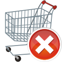 Shopping Cart Remove - Kostenloses icon #197667
