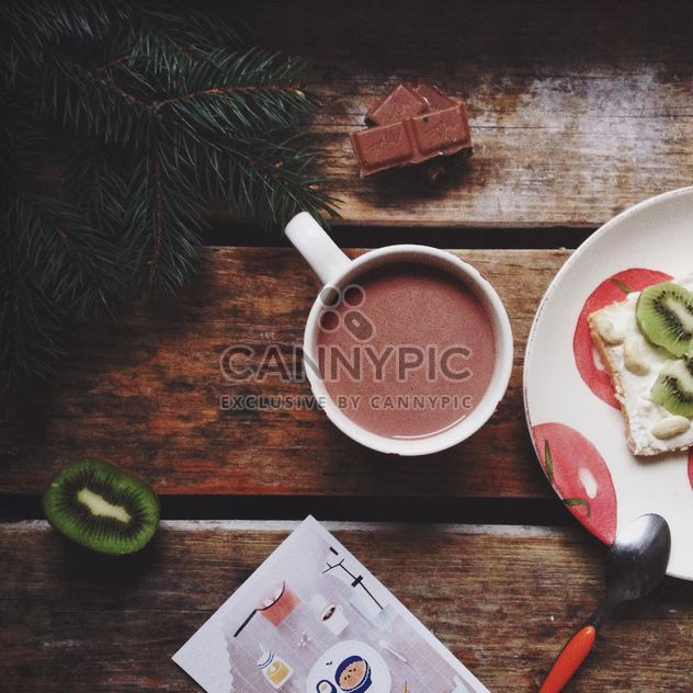 Cup of hot cocoa with kiwi - Free image #198437