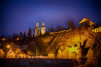 cathedral at night in the Czech Republic - image #198607 gratis