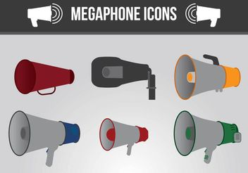Megaphone Icon Vectors - Free vector #199107