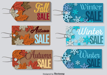 Season clearance sale labels - Free vector #199127