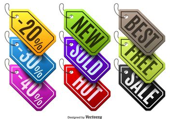 Colorful labels - vector gratuit #199237