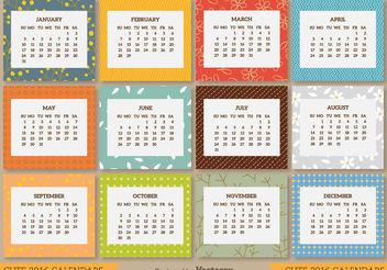 2016 calendar - vector #199277 gratis