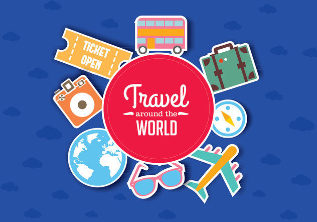 Traveling Vector Art - Free vector #199327