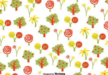 Summer hand drawn pattern - vector gratuit #199447