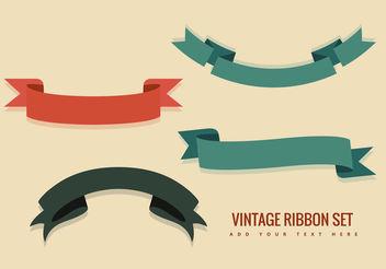 Vintage Ribbon Vectors - Free vector #199467