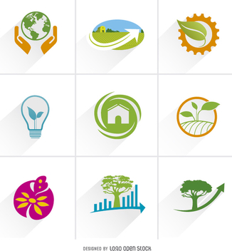 Ecology logo icons - Free vector #199687