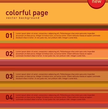 Multicolored Numbered Rows Infographic - vector gratuit #199807