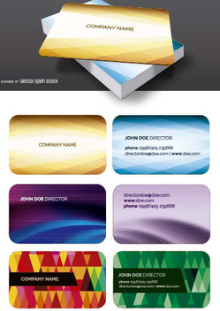 Cool Business card templates - бесплатный vector #199827