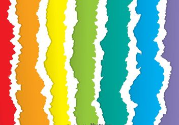 Rainbow Ripped Paper Vectors - Free vector #199897