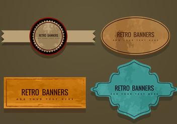 Retro Banner Vectors - vector #199907 gratis