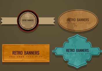 Retro Banner Vectors - vector gratuit #199907
