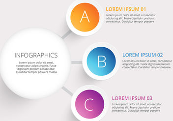 Modern vector circle infographic - Free vector #199967