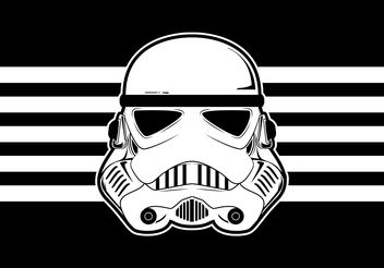 Star Wars Trooper Helmet Vector - Free vector #199987