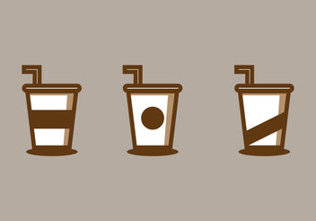 Iced Coffee Illustration - vector gratuit #200017