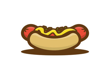 Cute Hotdog Illustration - Free vector #200027