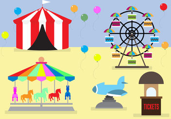 Amusement Park Idea - vector gratuit #200097
