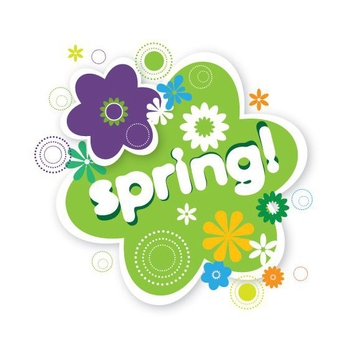 Spring Floral Sticker - Free vector #200157