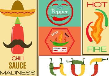 Hot Pepper Vector Signs - бесплатный vector #200257