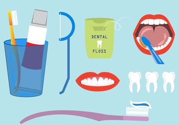 Tooth Wash Vectors - Free vector #200277