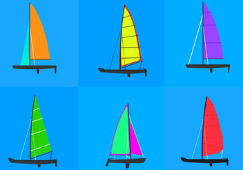 Catamaran Racing - vector gratuit #200477