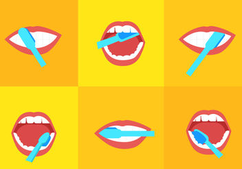 Brushing Teeth - Free vector #200487
