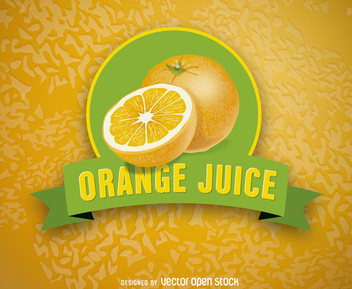 Orange Juice Logo - Kostenloses vector #200527