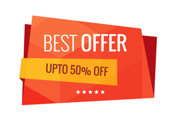 Best offer sale banner vector - бесплатный vector #200557