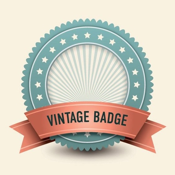 Vintage Ribbon Badge Stars - Free vector #200637