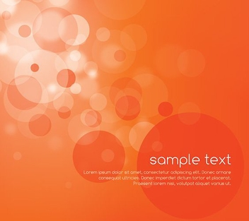 Bright Orange Bokeh Background - Free vector #200667