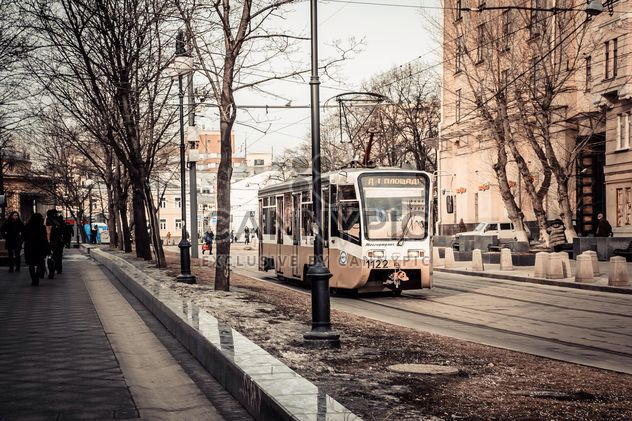 Tram in street of Moscow - Free image #200757
