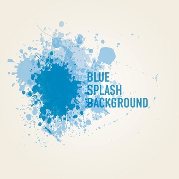 Blue Paint Splashed Background - vector #200767 gratis