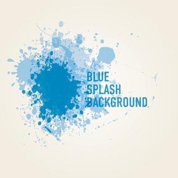 Blue Paint Splashed Background - бесплатный vector #200767
