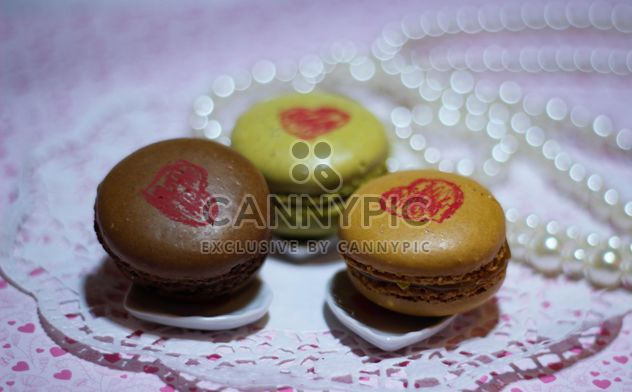 Macaron with drawing lipstick - Free image #200807