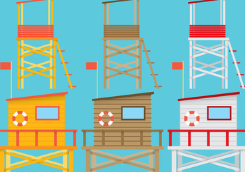 Lifeguard Stands - бесплатный vector #200887