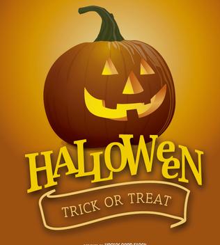 Halloween Pumpkin poster - Free vector #200917