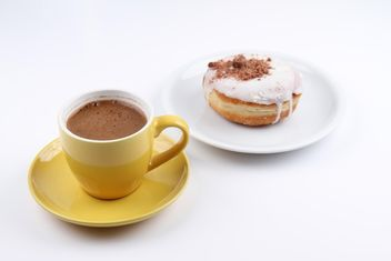 Cup of Coffee and Donut - image gratuit #201087
