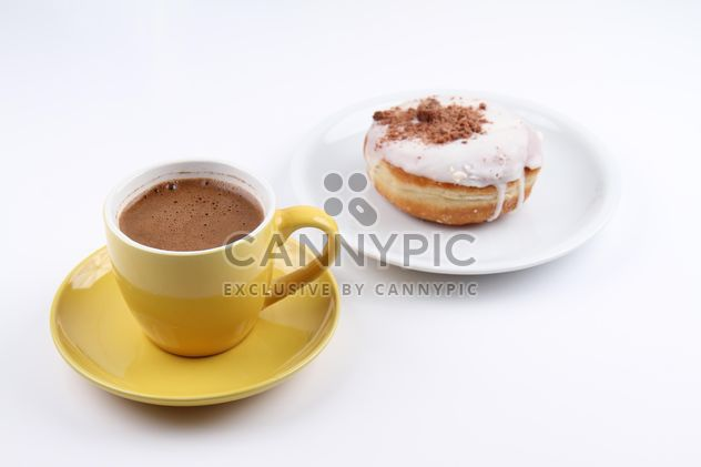 Cup of Coffee and Donut - Free image #201087