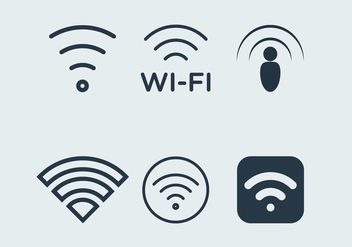 WiFi icons - vector gratuit #201167